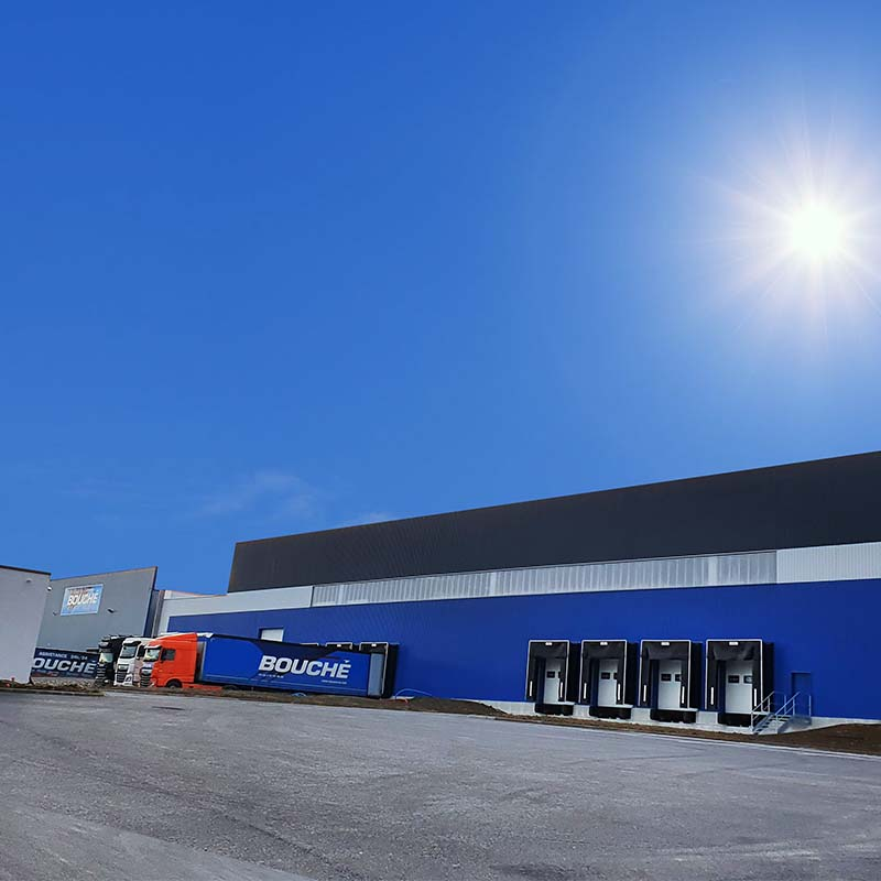 Construction d'un nouvel entrepôt de 6000m²